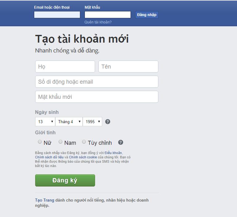 tao facebook ca nhan Tạo facebook cá nhân mới cho người dùng nhanh chóng nhất 2020