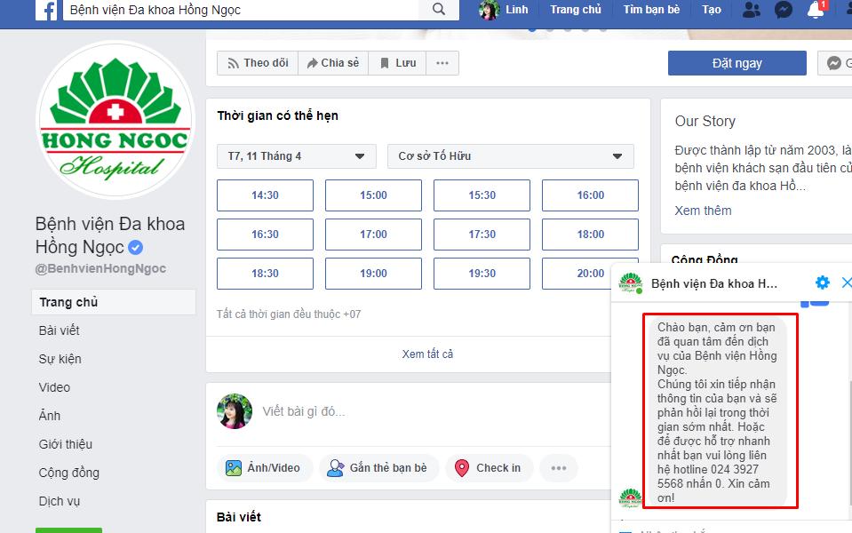 tin nhan Xây dựng phần mềm gửi tin nhắn facebook chăm sóc sức khỏe mùa dịch