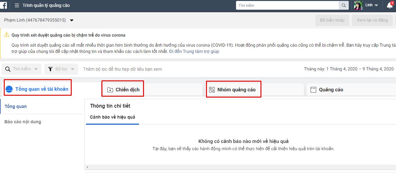trinh quan ly quang cao Quản lý kinh doanh hiệu quả với trình quản lý trang facebook