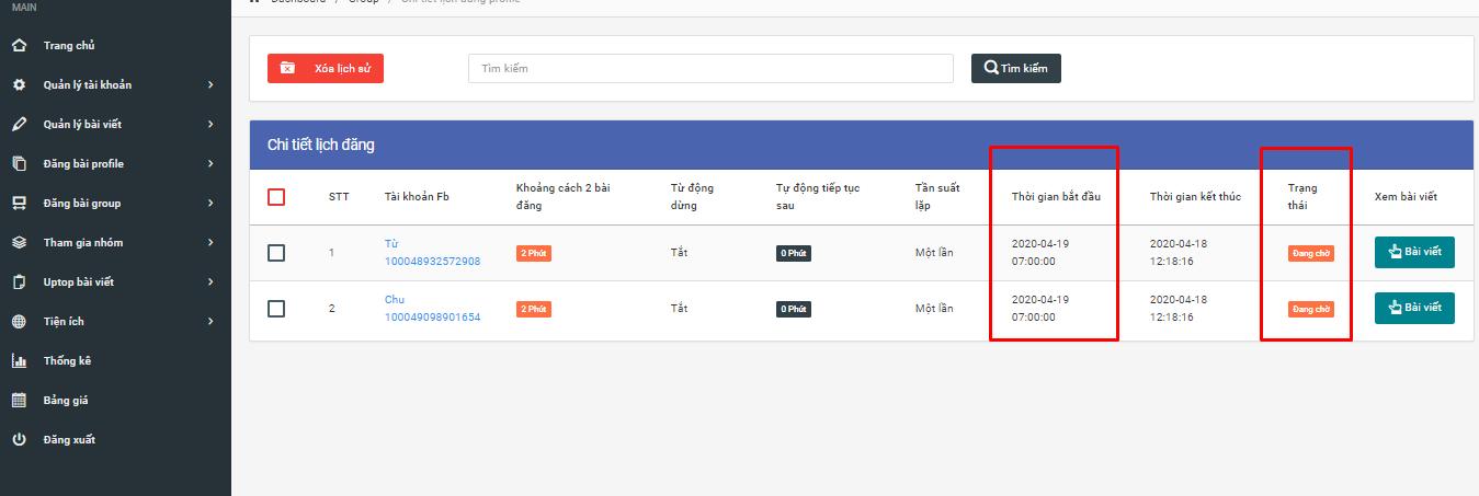 xem ich su len lich dang Hướng dẫn lập lịch đăng bài profile ở phần mềm nuôi nick facebook phiên bản mới V2