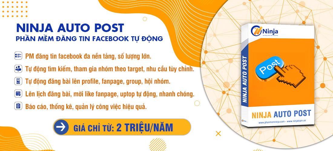 20200326 1. Ninja Auto Post 1 Tiết kiệm thời gian với phần mềm quảng cáo Facebook Ninja Auto Post