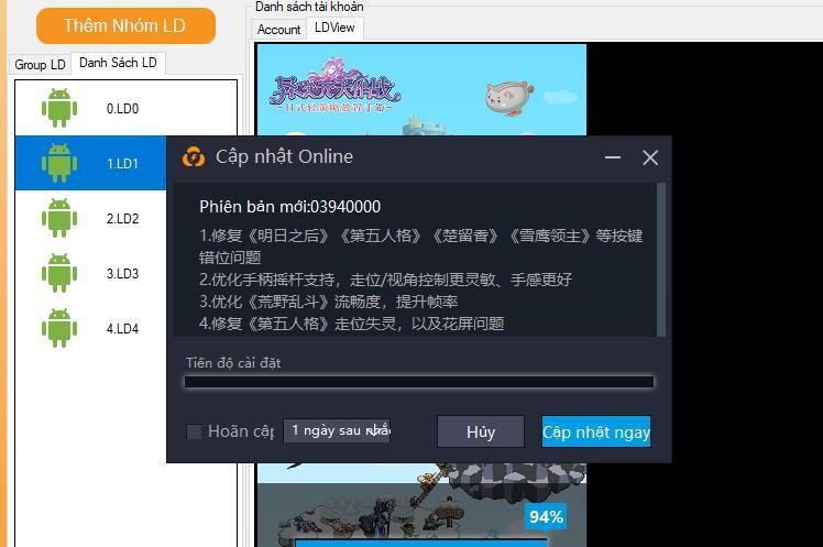 6ee86d64d7db2d8574ca Lưu ý khi sử dụng Ninja System với LDPlayer China