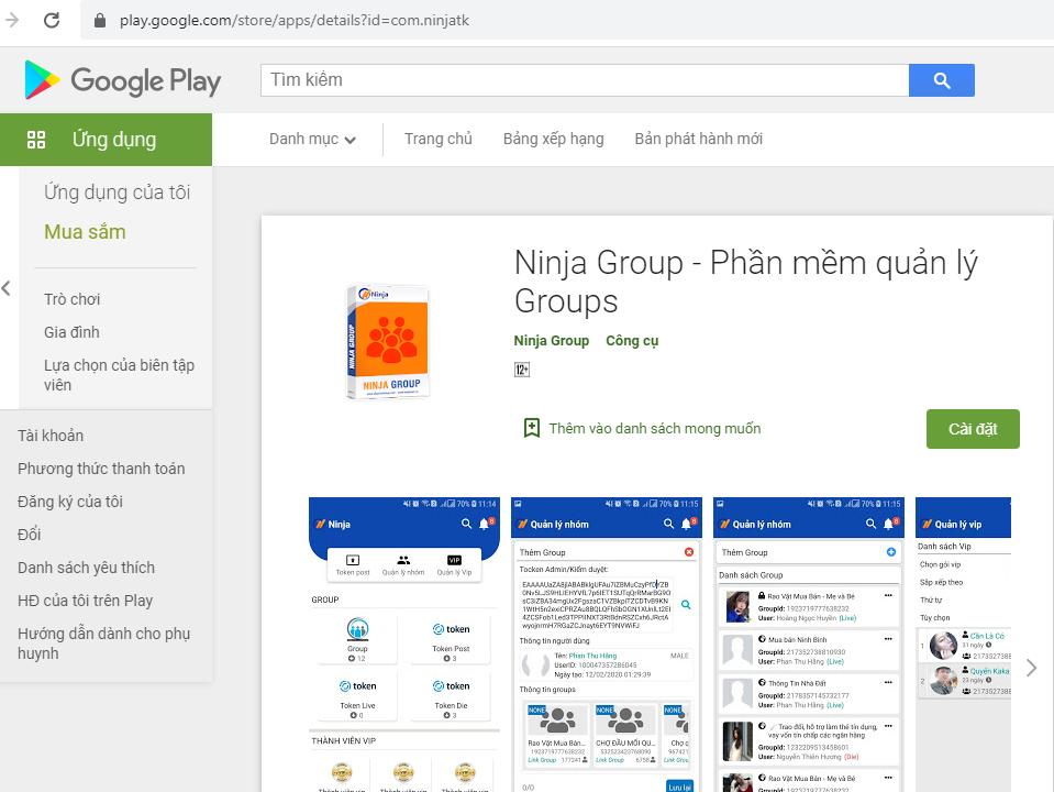 Screenshot 1 Ra mắt phần mềm quản lý Group phiên bản mobile trên Play Store