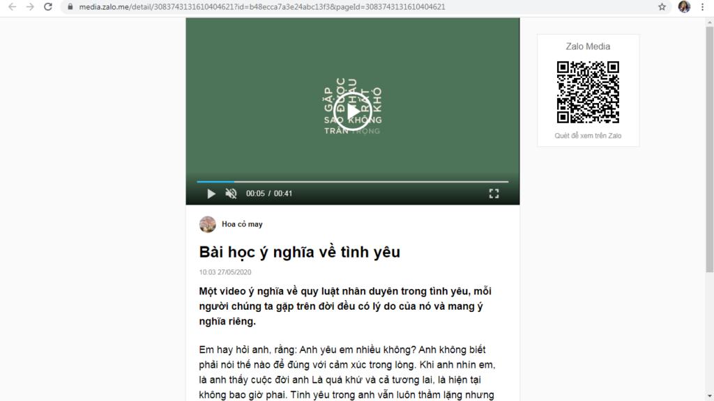 Screenshot 5 1 1024x576 Hướng dẫn đăng bài kèm video trên OA với phần mềm quản lý đăng bài Zalo