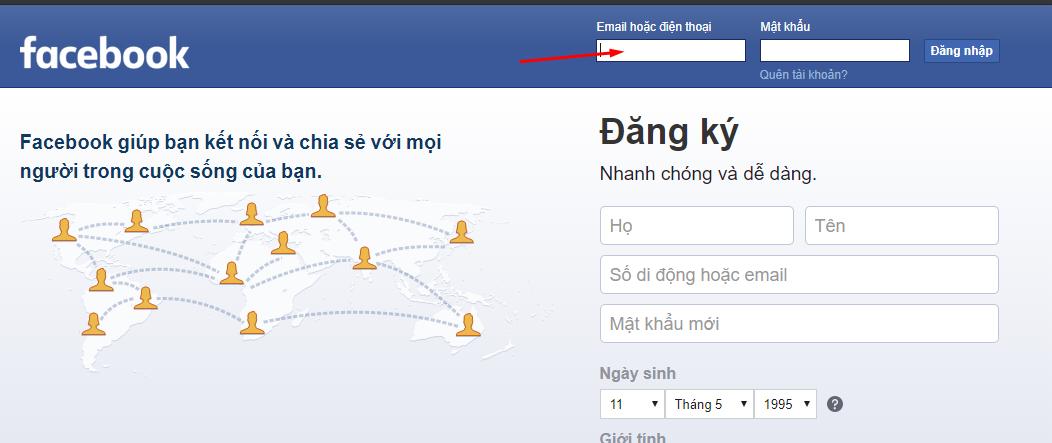 dang nhap facebook 2 Hướng dẫn cách đăng nhập facebook nhanh bằng số điện thoại