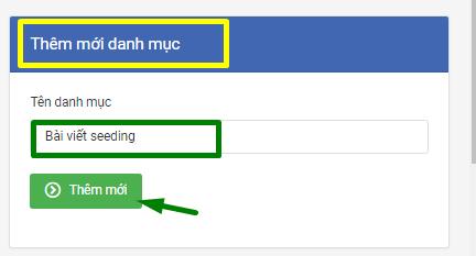 danh muc bai vie2t Hướng dẫn tạo danh mục bài viết trên phần mềm nuôi nick bán hàng Zalo