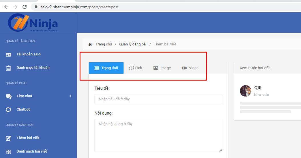 hinh thuc dang bai zalo Hướng dẫn đăng bài profile trên phần mềm nuôi nick bán hàng zalo