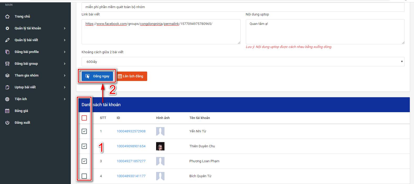 phan mem auto facebook 3 Phần mềm facebook auto hướng dẫn uptop bài viết nhanh chóng