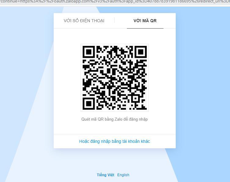 quet ma QR Phần mềm bán hàng zalo hiệu quả version V2 hướng dẫn đăng nhập tài khoản