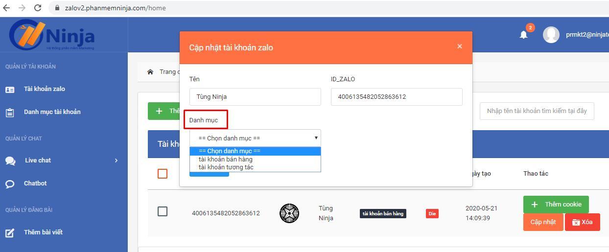 them tai khoan zalo Phần mềm bán hàng zalo hiệu quả version V2 hướng dẫn đăng nhập tài khoản