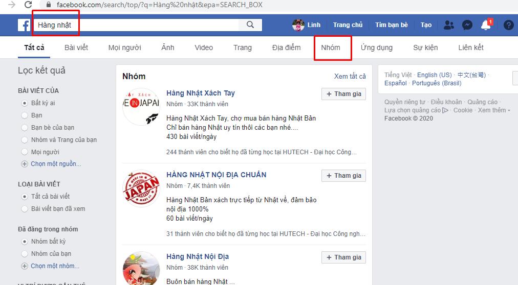tim kiem group facebook 2 cách tìm kiếm group bán hàng trên facebook chất lượng