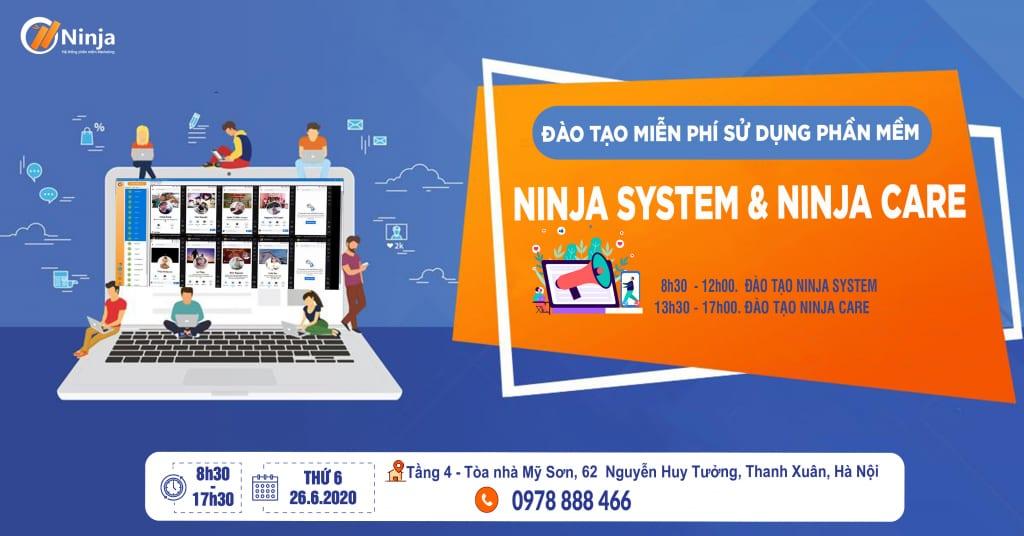 BANNER DAO TAO 1024x536 Phần mềm Ninja: Đào tạo miễn phí sử dụng phần mềm Ninja Ninja System và Ninja Care