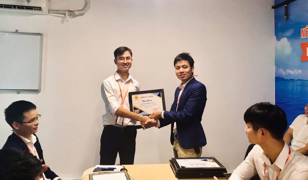 anh 1 1024x599 Phần mềm Ninja: Khen thưởng nhân viên kinh doanh xuất sắc tháng 5.2020