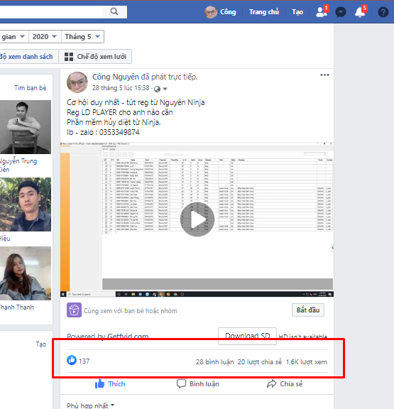 ban hang share livestream 4 lý do cần nuôi nick facebook bạn cần biết