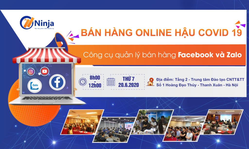 banner offline 01 2 1024x614 Offline Ninja tháng 6: Bán hàng online hậu Covid 19 với công cụ quản lý bán hàng Facebook, Zalo