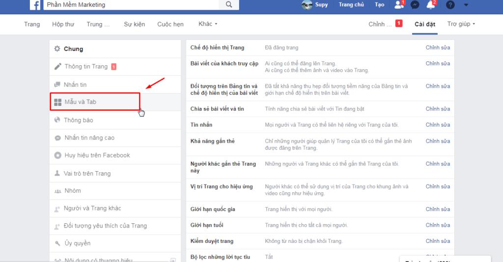 mau tab 1 1024x534 Facebook Shop là gì? Hướng dẫn cách tạo Facebook Shop mới nhất 2020