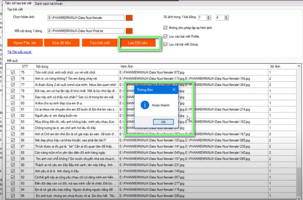 phan mem nuoi nick 5 1024x679 Chạy tương tác đăng bài trên phần mềm nuôi nick  Ninja System(P1)
