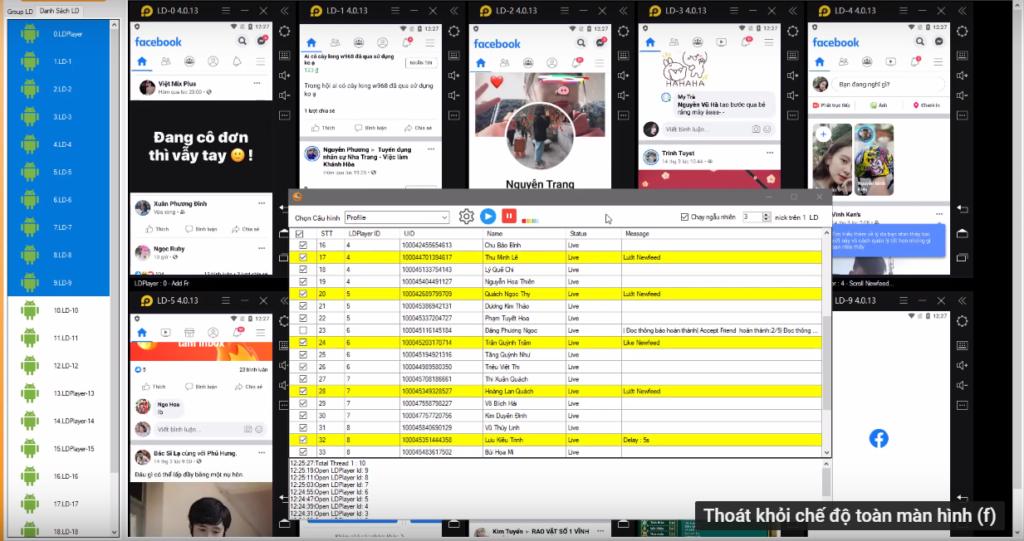 phan mem nuoi nick dien thoai8 1 1024x541 Share Livestream dễ dàng chỉ với 5 ngày nuôi nick bằng Ninja System