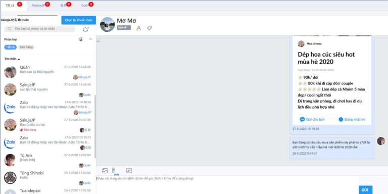 phan mem quang cao ban hang Quản lí chat hiệu quả trên phần mềm quảng cáo bán hàng Ninja Zalo