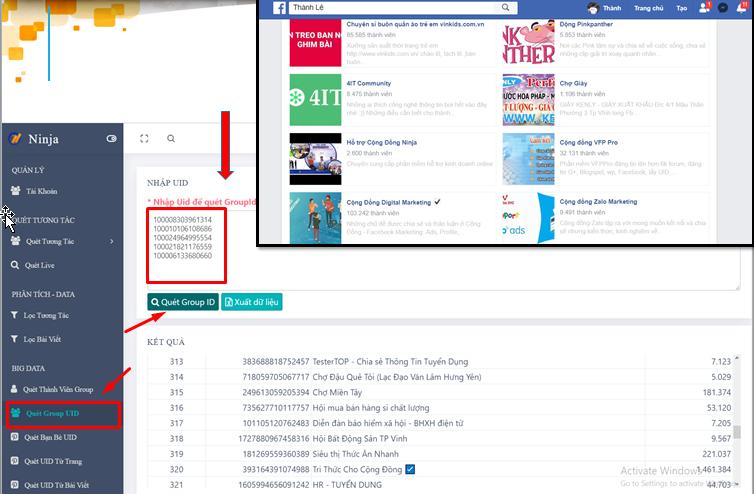 quet group id Tìm kiếm khách hàng tiềm năng đơn giản với phần mềm Marketing bán hàng Facebook(phần 1)