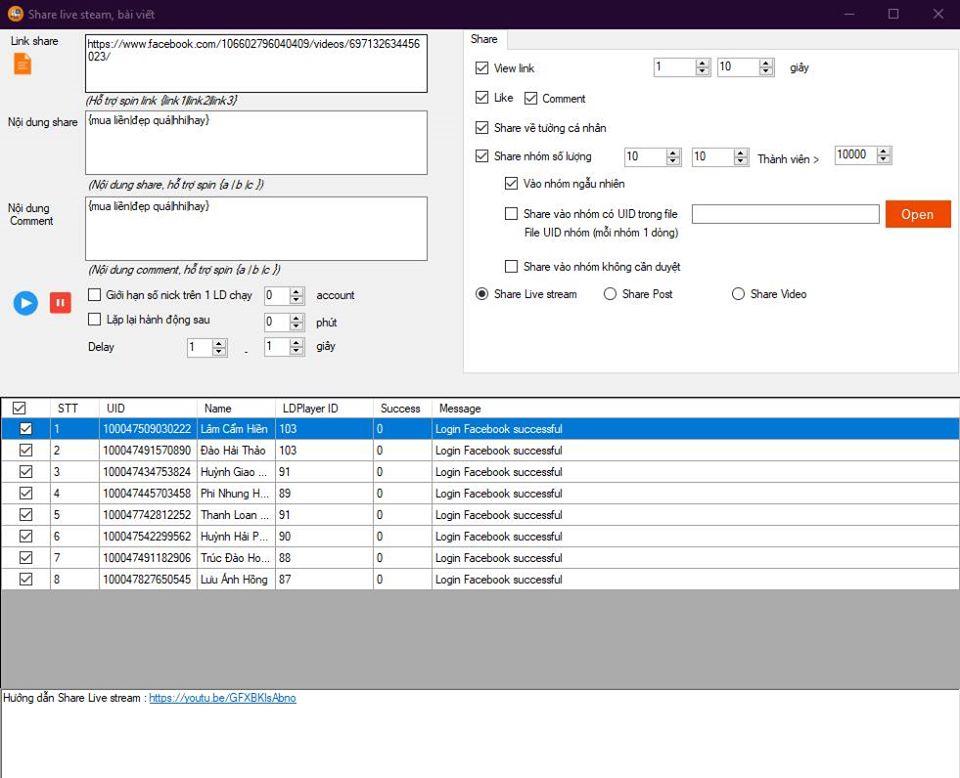 system 1 1 Phần mềm quản lý tài khoản Facebook cập nhật version mới 4.1