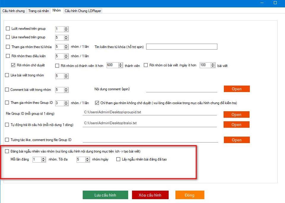 system3.8update Phần mềm nuôi nick số lượng lớn Ninja System cập nhật version 3.8