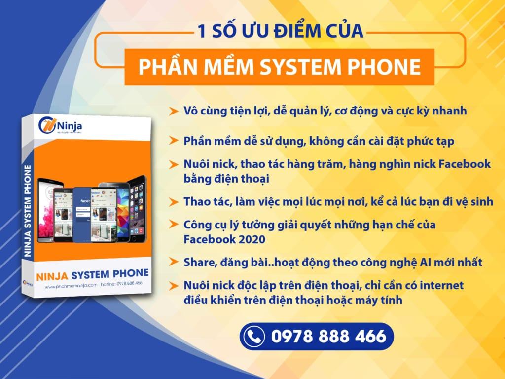 SYSTEM PHONE 1 1024x768 Nuôi nick Facebook trên điện thoại cần chuẩn bị những gì?