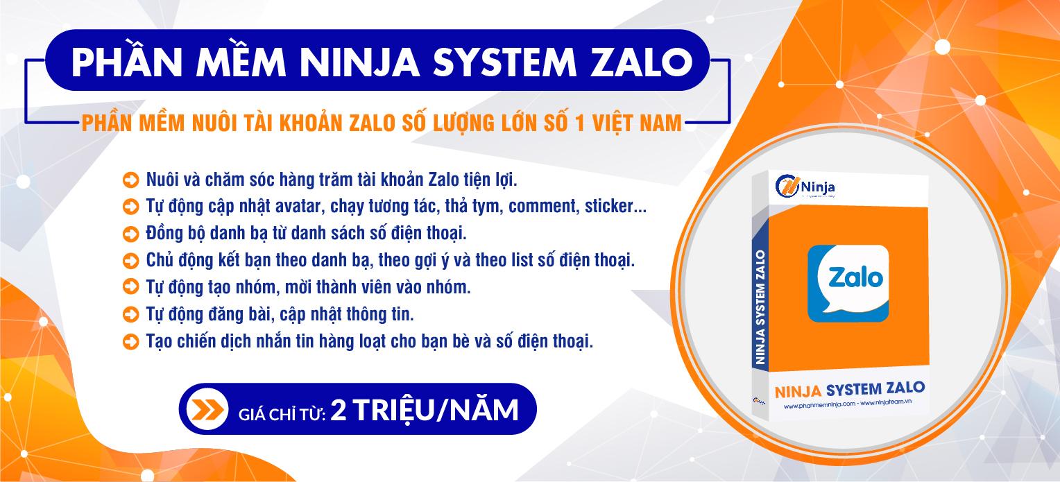banner ninja system zalo 1100x500 01 Ninja System Zalo   Phần mềm nuôi tài khoản Zalo số lượng lớn