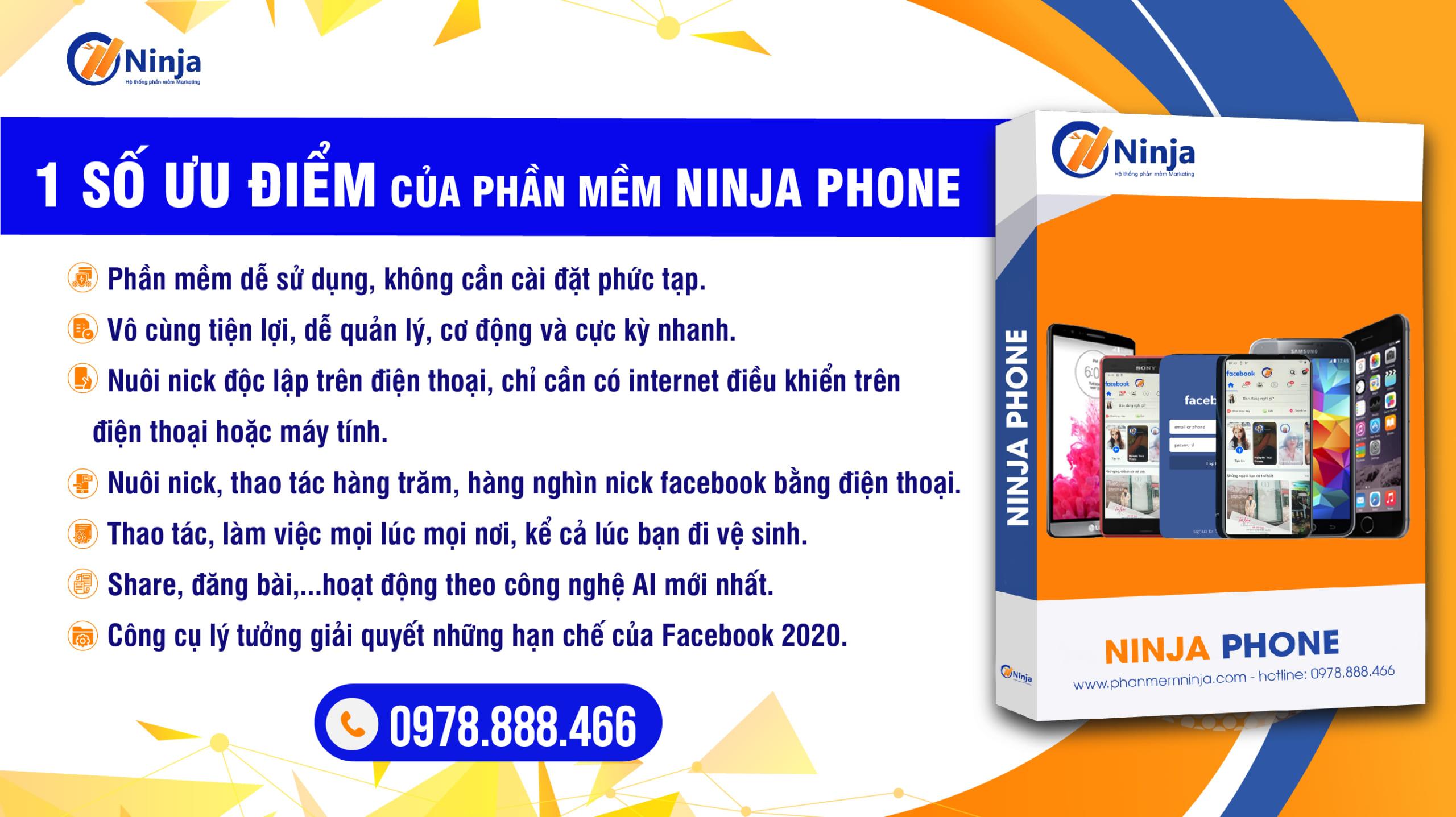 ninja phone scaled Cách thêm tài khoản vào công cụ nuôi nick điện thoại Ninja Phone