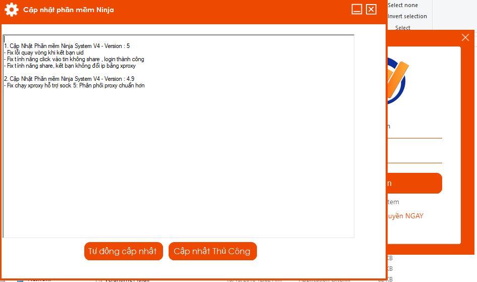 ninja system v4.5.0 Phần mềm nuôi nick facebook Ninja System V4 Update phiên bản 5.0