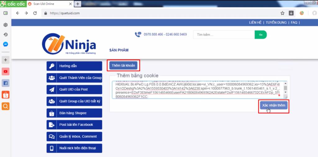 phan mem quet uid mien phi 1024x506 Hướng dẫn quét UID Facebook của một Profile, Group nhanh chóng, chính xác