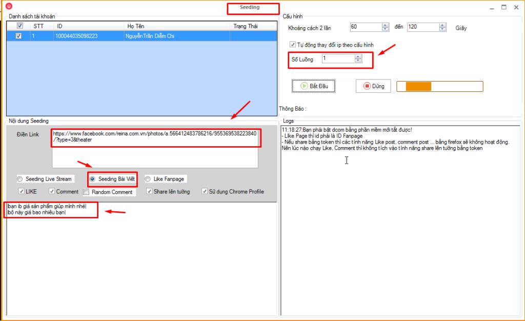 seeding fb2 1024x626 Quản lý tương tác nick hiệu quả với phần mềm quản lý nick số lượng lớn