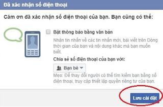 xac nhan FB1 min Hướng dẫn 2 cách xác minh tài khoản Facebook qua điện thoại