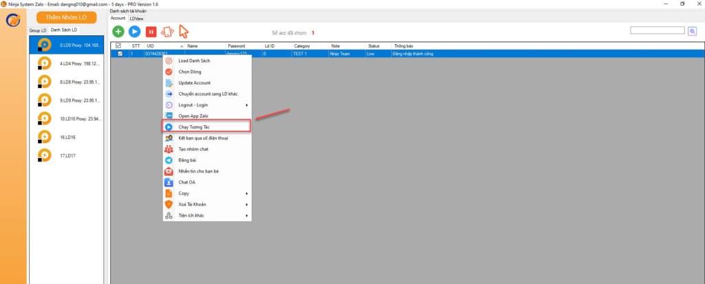 z1985079671126 f4465f7c726b3cd6b2e8429b6ea77438 1 1024x413 Hướng dẫn chạy tương tác trên phần mềm chăm sóc nick Zalo