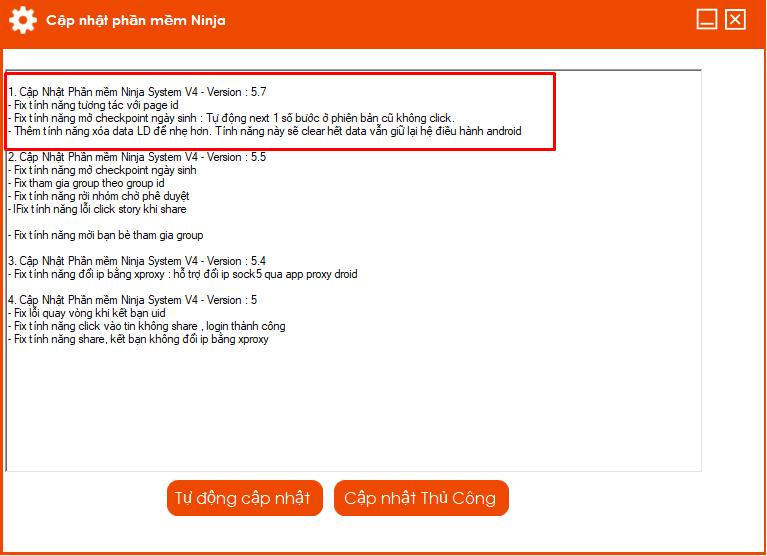 5.7 Phần mềm nuôi nick số lượng lớn update version 5.7