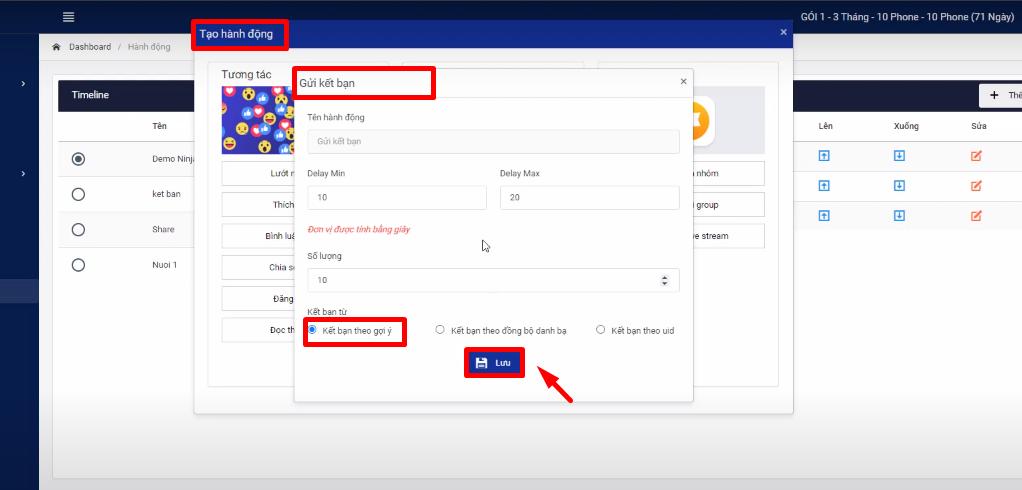 gui ket ban1 Phần mềm Ninja Phone hướng dẫn chạy tương tác đơn giản, hiệu quả