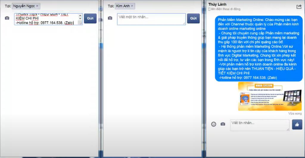 gui tin nhan spam facebook 1024x533 Hướng dẫn gửi tin nhắn tự động nhanh chóng trên Facebook và Zalo