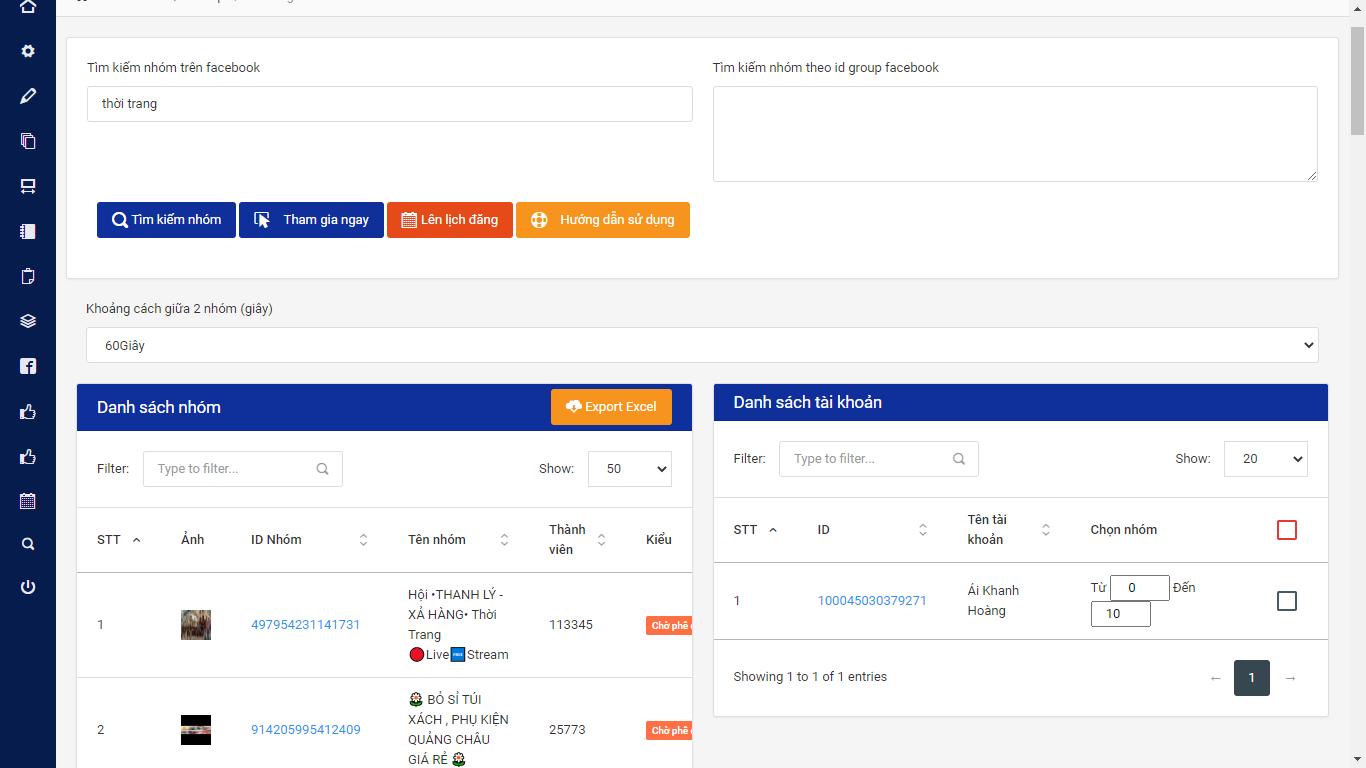 screenshot 1597393245 Ninja Auto Post   Phần mềm đăng bài Facebook tự động nhanh chóng