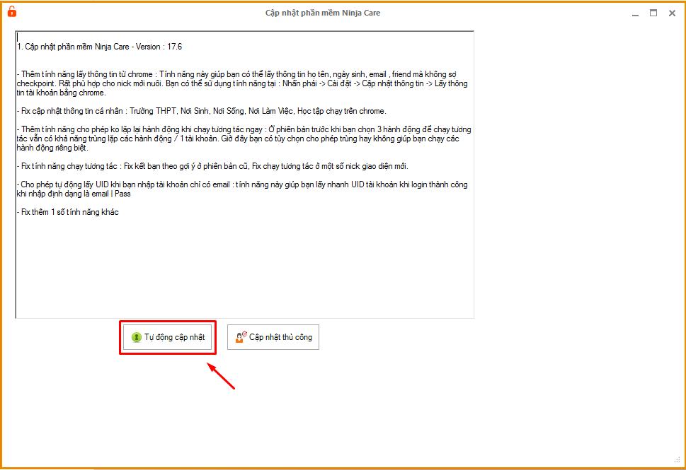 cap nhat ninja care 17.6.png1  Update version 17.6 của phần mềm chăm sóc nick số lượng lớn