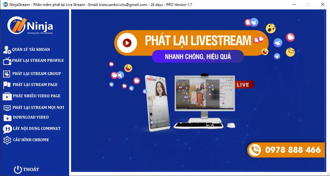 phat lai livestream Phần mềm phát lại Livestream tự động, chuyên nghiệp   Ninja Stream