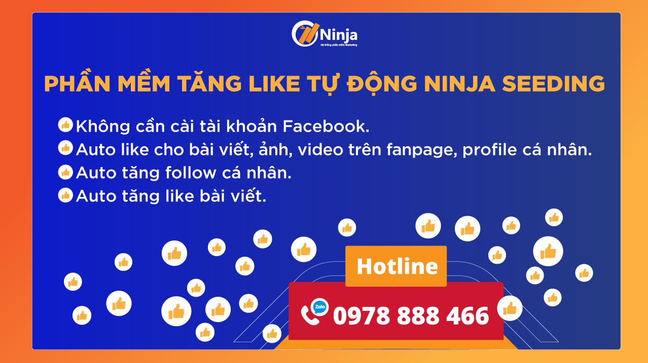 banner web chính Tùng 1 Ninja Seeding   Phần mềm tăng like, comment tự động