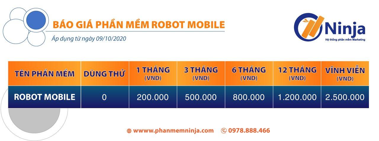 bao gia robot face Robot Mobile   Phần mềm tự động tương tác Facebook trên điện thoại