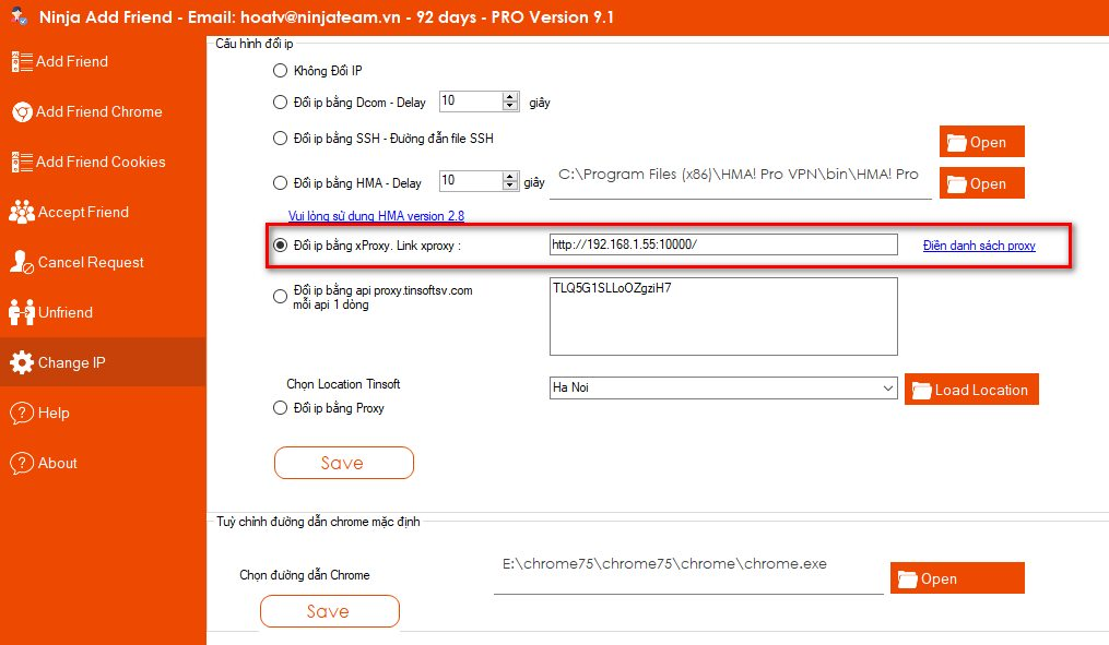 cap nhat ninja add friend Cập nhật phần mềm kết bạn facebook   Ninja Add Friend version 9.1