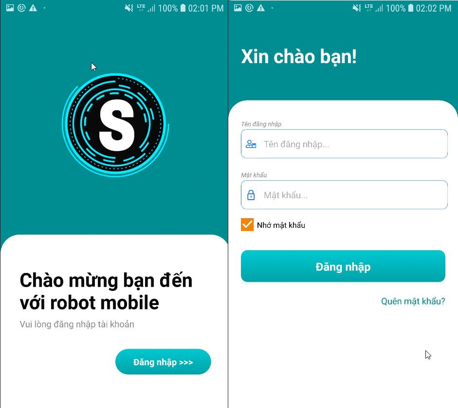 dang nhap phan mem1 Robot Mobile   Phần mềm tự động tương tác Facebook trên điện thoại