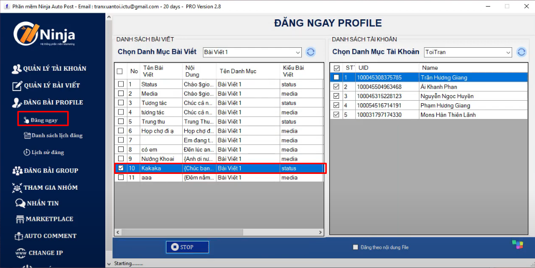 huong dan them ninja proxy vao nhom3 Hướng dẫn thêm Ninja Proxy vào phần mềm Auto Post phiên bản Client