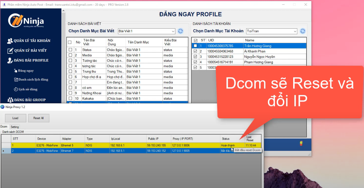 huong dan them ninja proxy vao nhom5 Hướng dẫn thêm Ninja Proxy vào phần mềm Auto Post phiên bản Client
