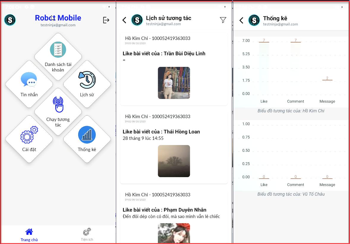 lịch sư thống kê Hướng dẫn sử dụng phần mềm tương tác Facebook tự động   Robot Mobile