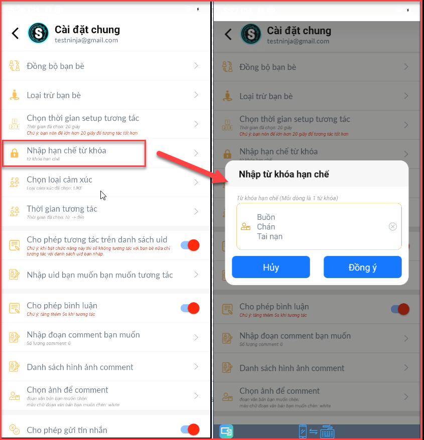 robot mobile1 Hướng dẫn sử dụng phần mềm tương tác Facebook tự động   Robot Mobile