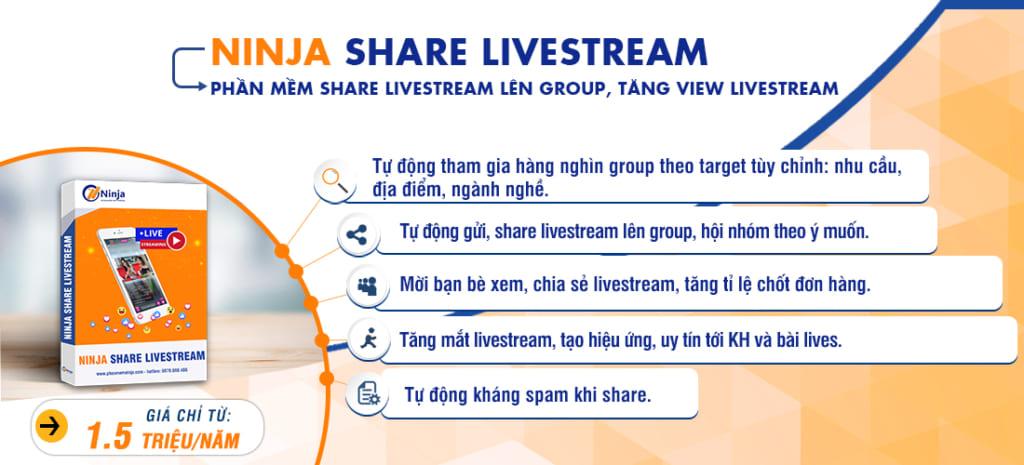 6. Ninja share livestream tv 1024x465 Top 7 phần mềm hỗ trợ kinh doanh online được tin dùng nhất