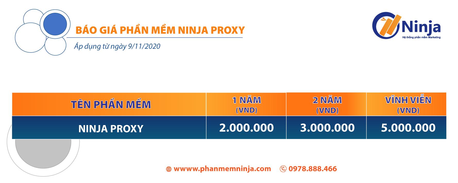 báo giá ninja proxy Ninja Proxy   Hệ thống đổi IP tự động hoàn toàn mới